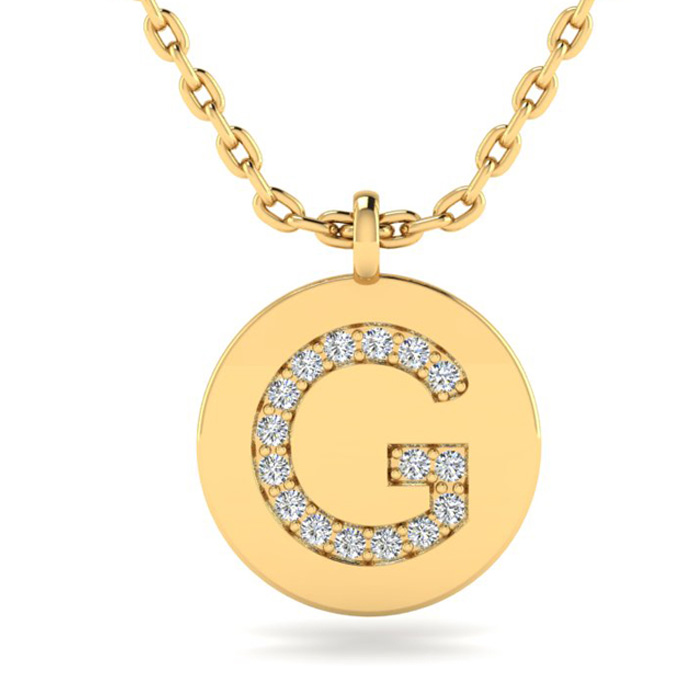 G Initial Necklace In 14K Yellow Gold
