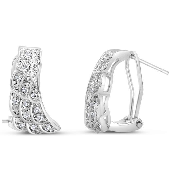 1 4 Carat Diamond Angel Wings Earrings Superjeweler