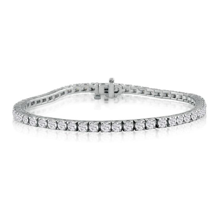 5 1/2 Carat Diamond Men's Tennis Bracelet in 14K White Gold (11.9 g)