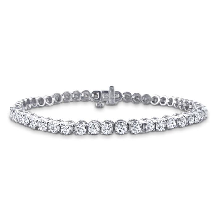 3 1/2 Carat Diamond Men's Tennis Bracelet in 14K White Gold (13.1 g)
