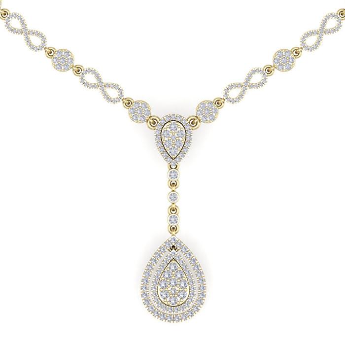 14K Yellow Gold (34 g) 4.33 Carat Diamond Necklace (