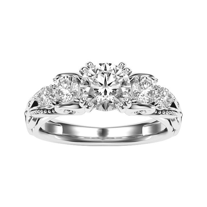 2 Carat Vintage Diamond Engagement Ring in 14K White Gold (4.70 g) (
