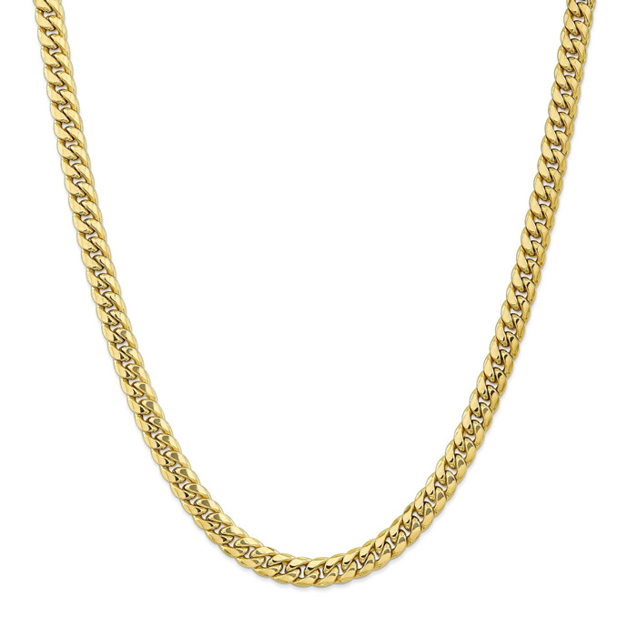 14K Yellow Gold (28.10 g) 7.3mm Miami Cuban Chain Necklace