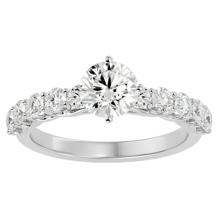1 3/4 Carat Diamond Engagement Ring in 14K White Gold (4 g) (