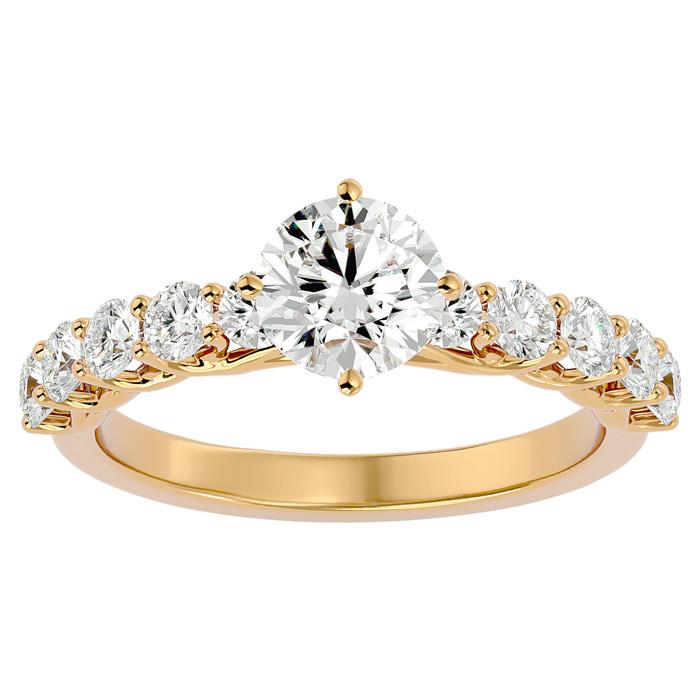 1 3/4 Carat Diamond Engagement Ring in 14K Yellow Gold (4 g) (