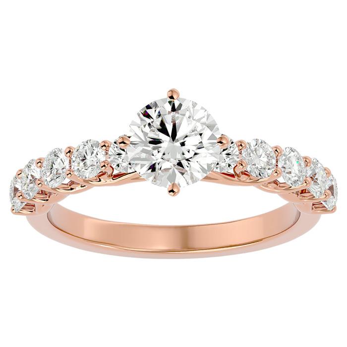 1 3/4 Carat Diamond Engagement Ring in 14K Rose Gold (4 g) (