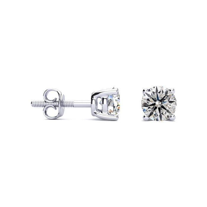Beautiful High Quality 1ct Diamond Stud Earrings In 14k White Gold Item Number Jwl 5337