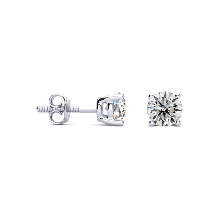 .65 Carat Diamond Stud Earrings in 14k White Gold. Super Valuek White Gold,  by SuperJeweler