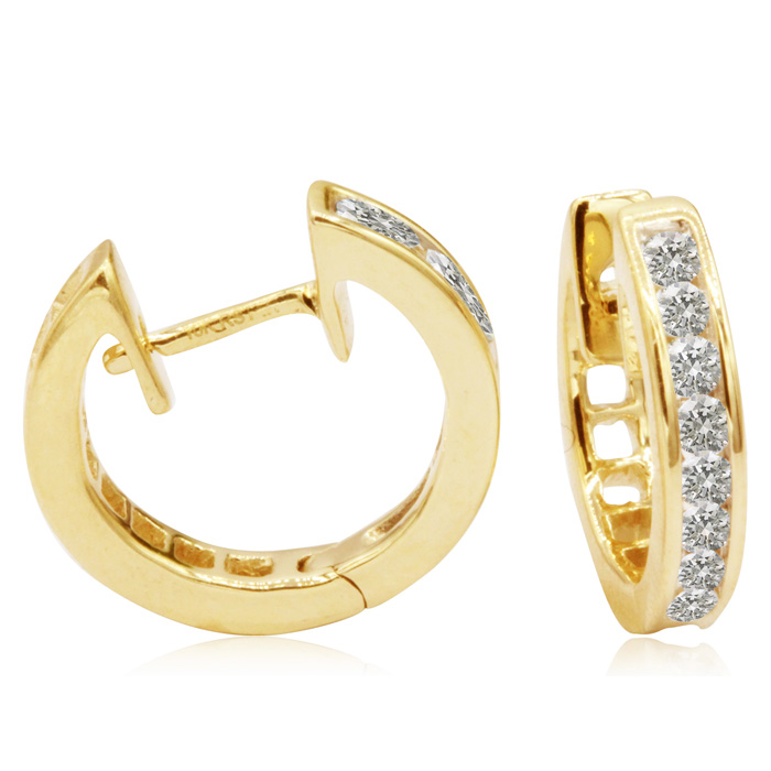 1/4 Carat Diamond Earrings in Yellow Gold (2.2 g) at Closeout Price,  by SuperJeweler