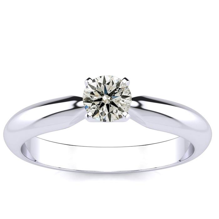 1/3 Carat Diamond Engagement Ring in 14k White Gold, , I2 by SuperJeweler