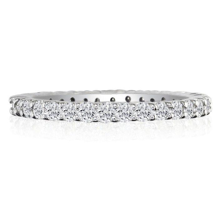 Platinum 2.40 Carat Round Diamond Eternity Ring (