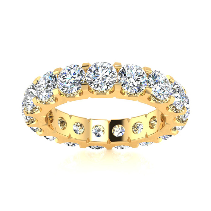 14K Yellow Gold (6 g) 2.80 Carat Round Diamond Comfort Fit Eternity Ring (