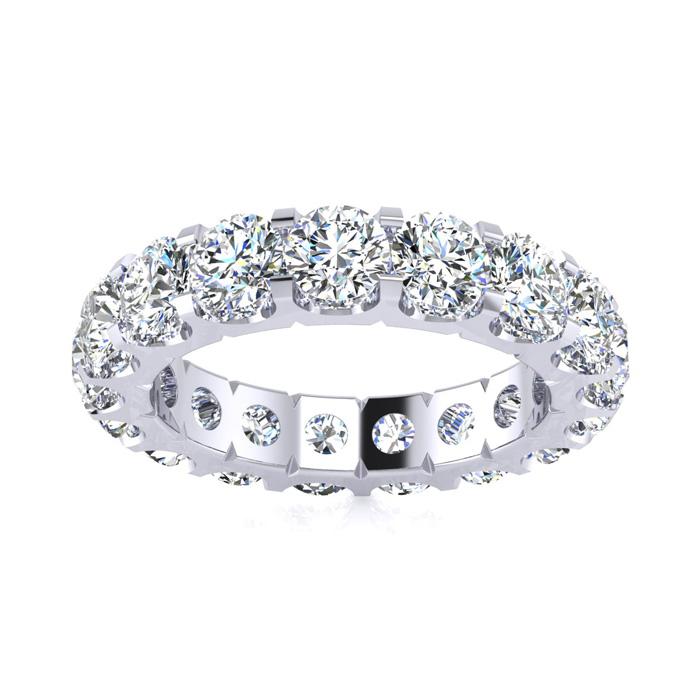 14K White Gold (6 g) 2.80 Carat Round Diamond Comfort Fit Eternity Ring (