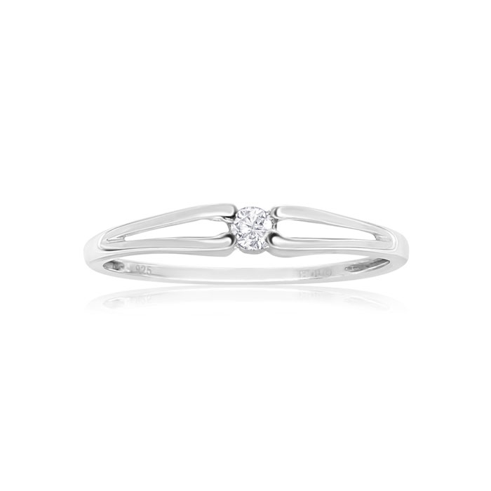 Image of .07ct Diamond Promise Ring in Sterling Silver