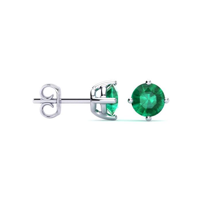 Emerald Earrings May Birthstone 1 2ct Natural Stud In Sterling Silver Superjeweler