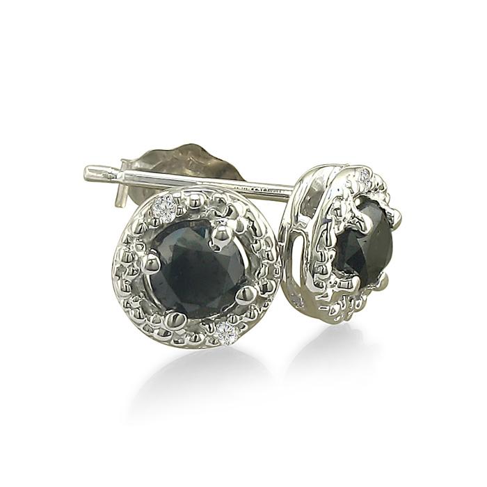 1/2ct Pave Style White and Black Diamond