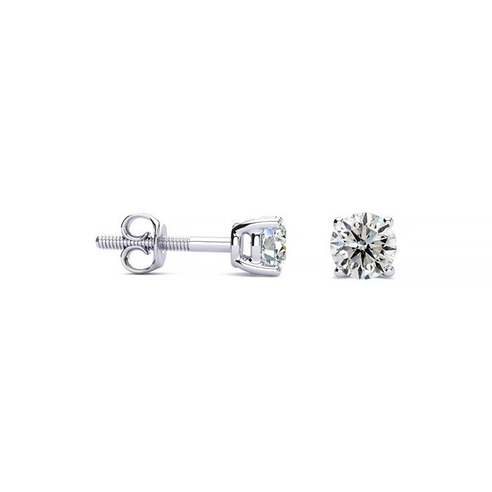 1/4ct Diamond Stud Earrings In 14k White