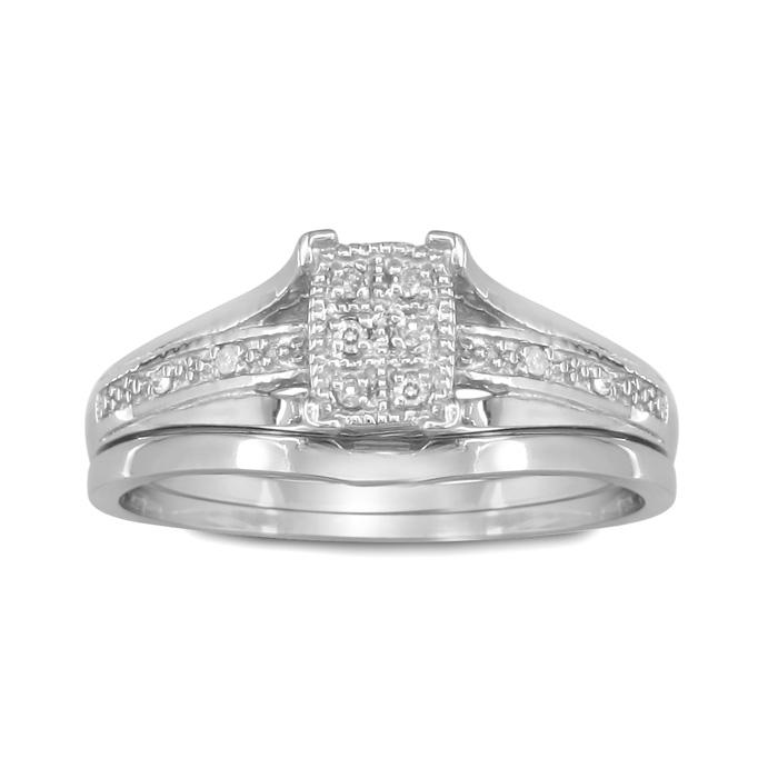 Fantastic Low Priced Diamond Bridal Wedding Set in Sterling Silver,  by SuperJeweler
