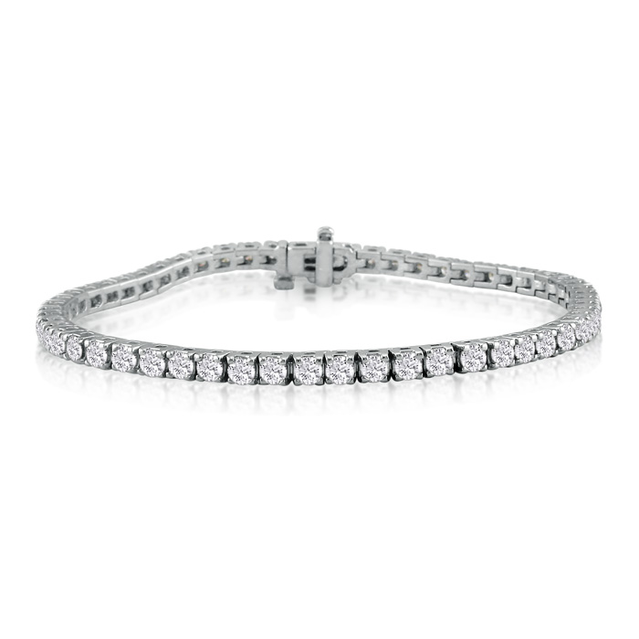 6 Inch 14k White Gold 4 3 8 Carat Diamond Tennis Bracelet Item Number Jwl 7708