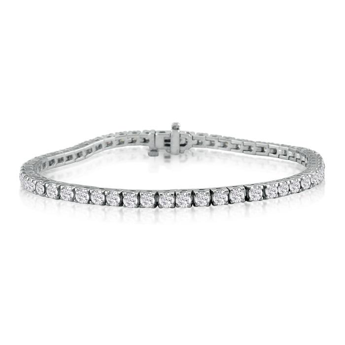 8.5 Inch 14K White Gold 6 1/4 Carat Diamond Tennis Bracelet