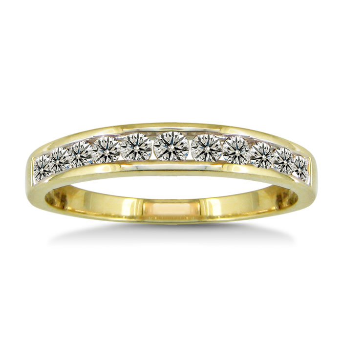 1/2 Carat Channel Set Diamond Wedding Band in Yellow Gold (1.8 g),  by SuperJeweler