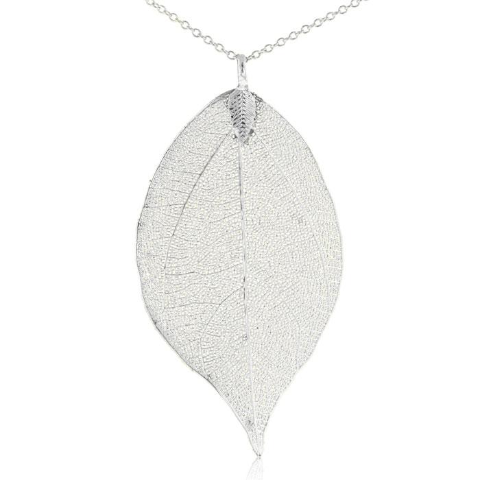 Sterling Silver Overlay Leaf Pendant