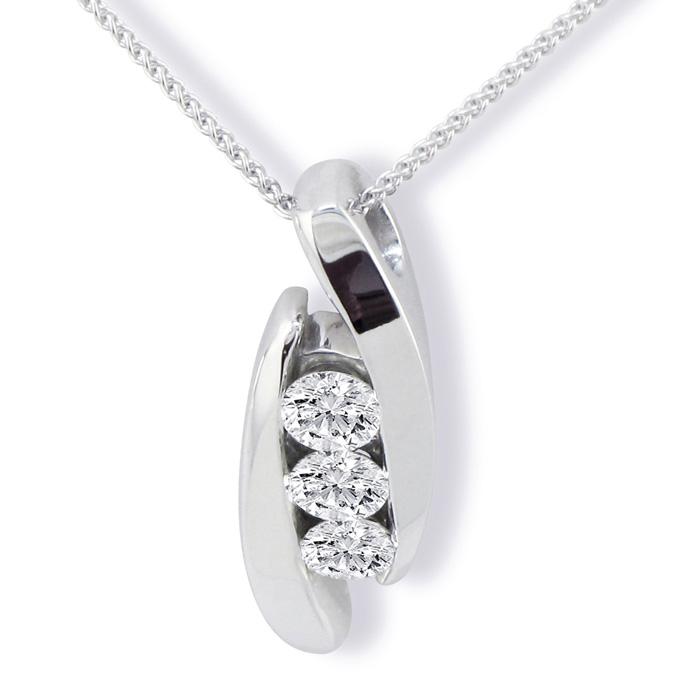 strand product necklace pendant diamond raine turgeon three