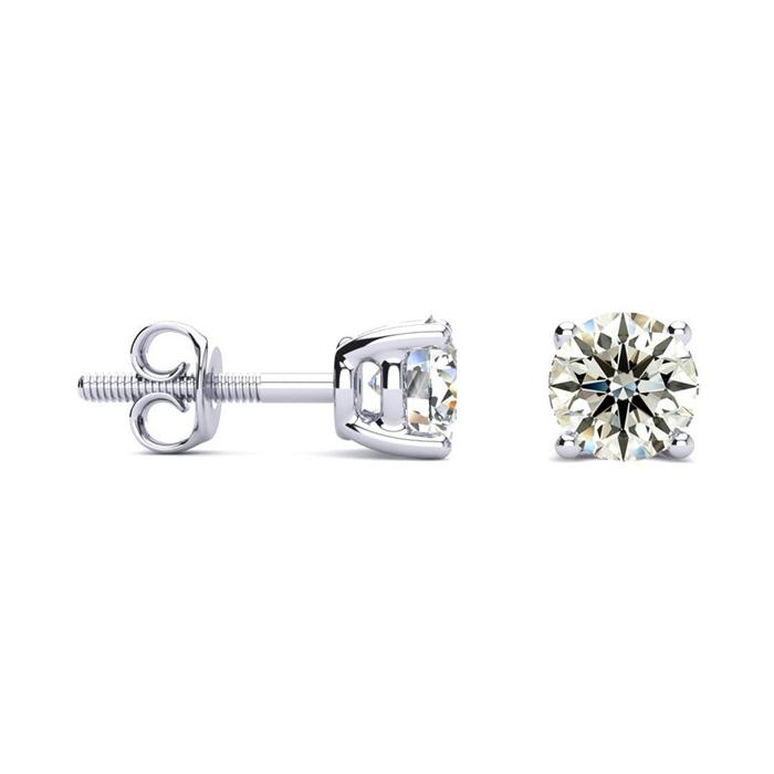 3/4ct VS Round Diamond Stud Earrings In