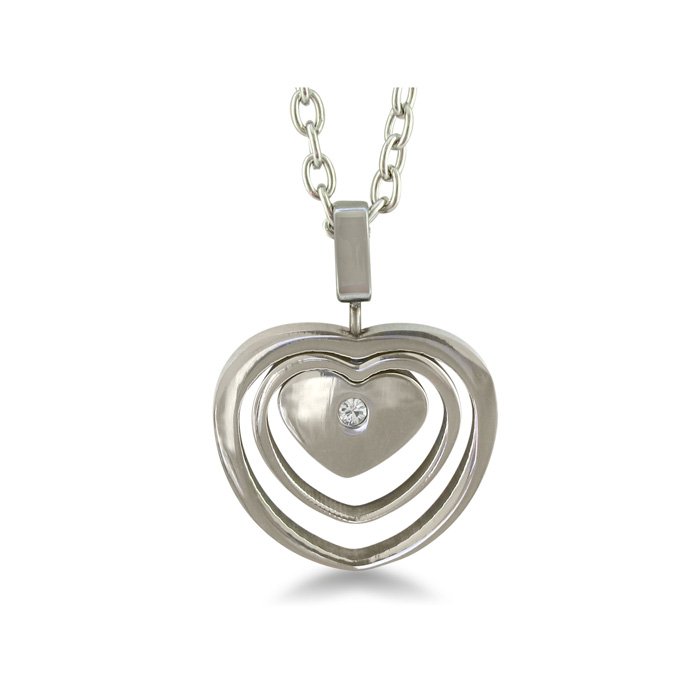 Image of Triple Heart Stainless Steel Necklace