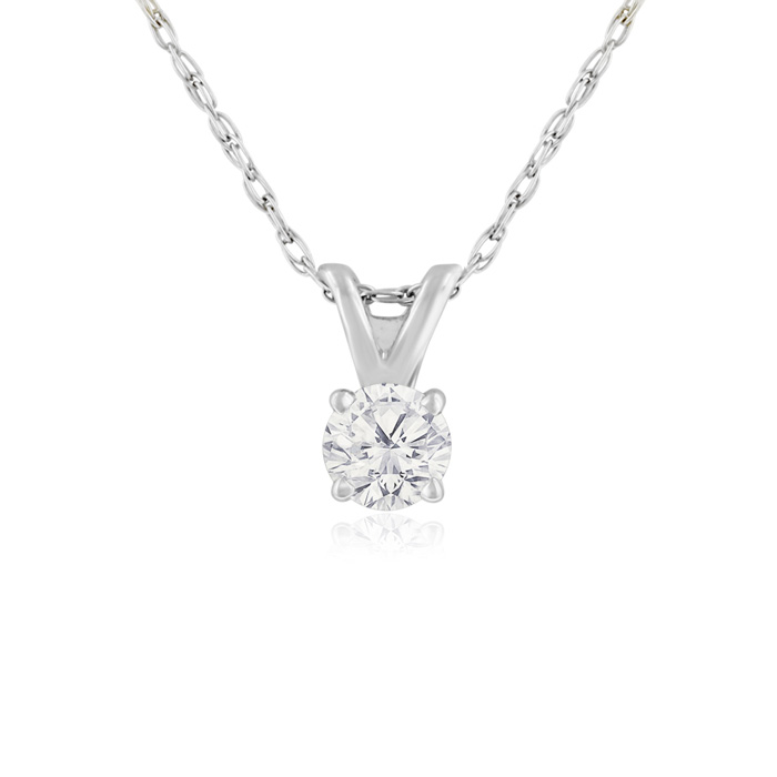 Diamond Necklace Nearly 14ct Diamond Necklace In White Gold