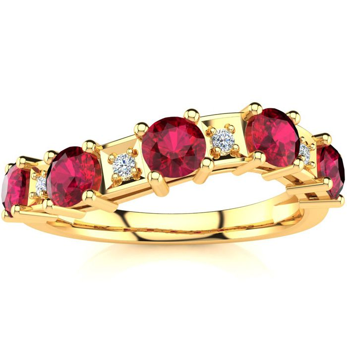 1 1/3 Carat Ruby and Diamond Journey