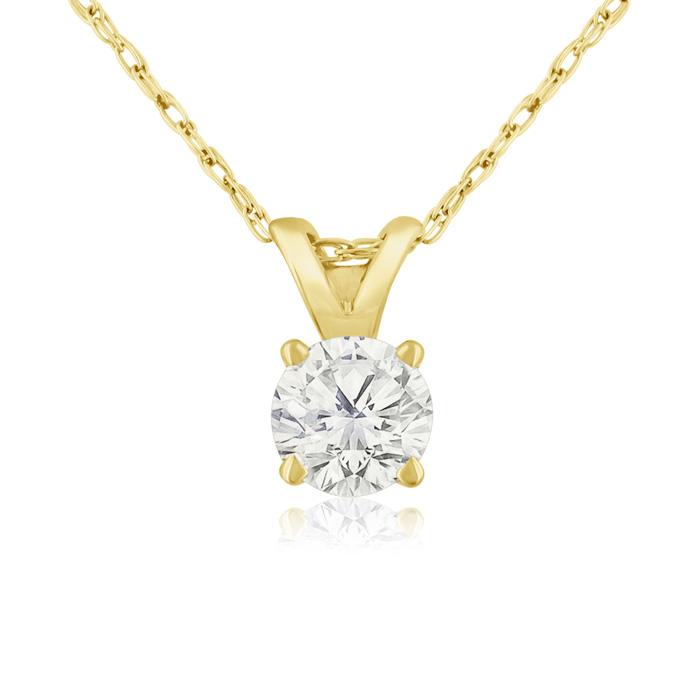1/3ct 14k Yellow Gold Diamond Pendant