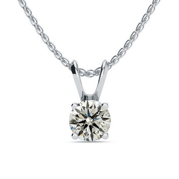 5f15f701773 Diamond necklace | 1/2ct Diamond Pendant in 14k White Gold ...
