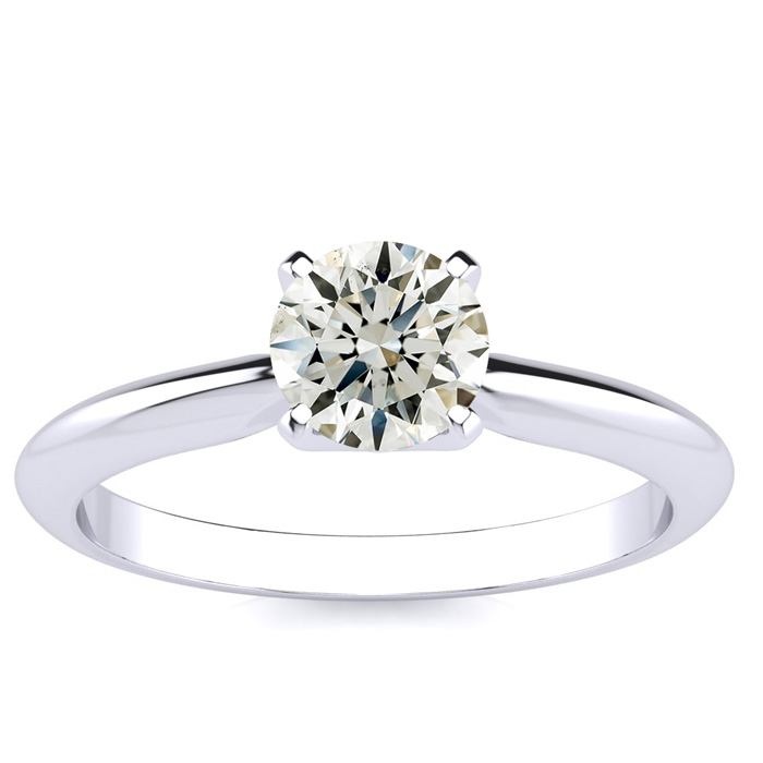 18k White Gold 3/4 Carat Engagement Ring,  by SuperJeweler