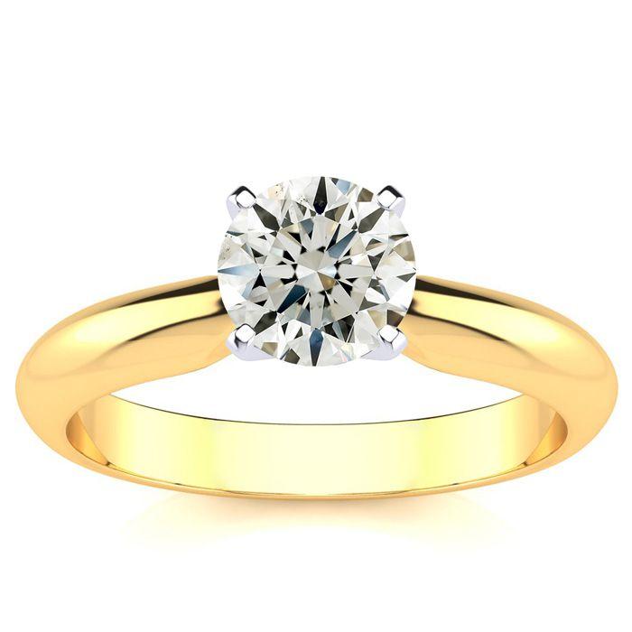 1 Carat 14k Yellow Gold Diamond Engagement Ring,  SI3/I1 by SuperJeweler