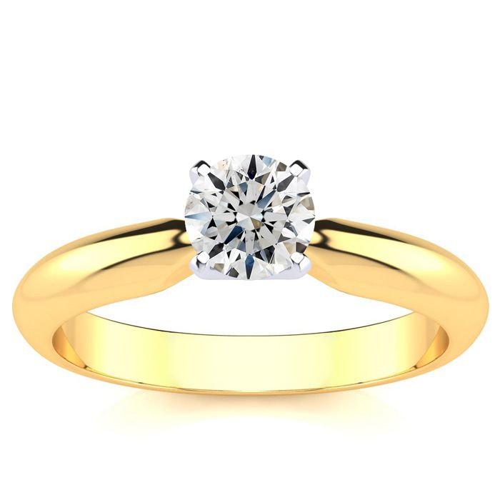 1/2 Carat 14k Yellow Gold Diamond Engagement Ring, G/H Color, SI1/SI2 by SuperJeweler