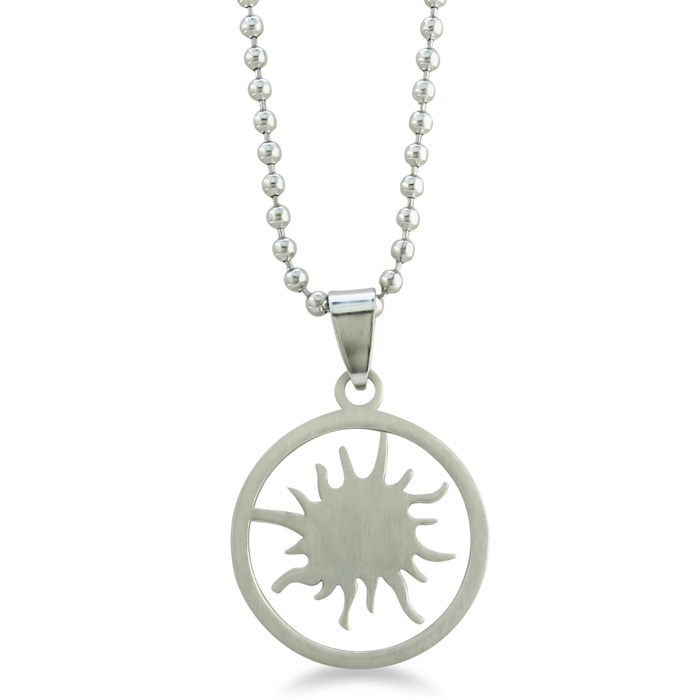 Image of Stainless Steel Sunburst Pendant