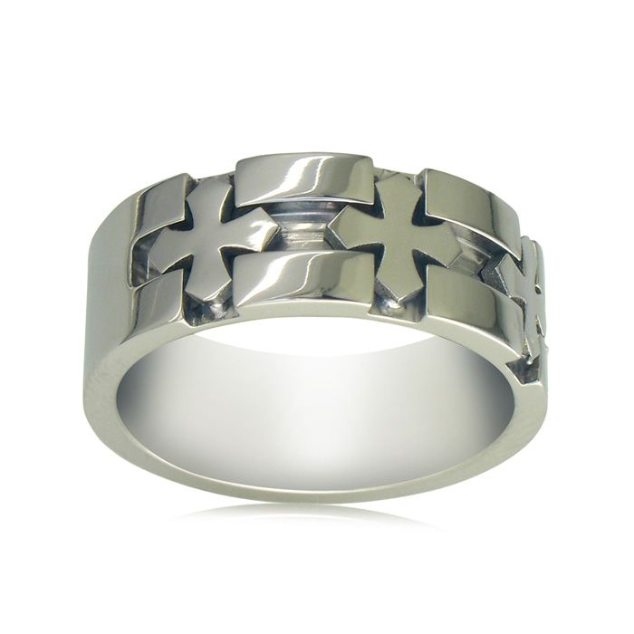 Men's Titanium Cross Band Sizes 8-11.5