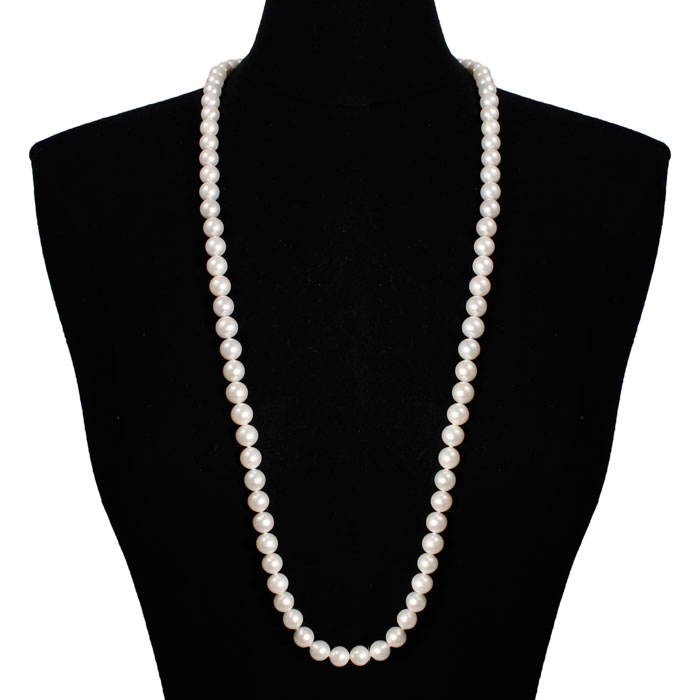 36 Inch 10mm AAA Hand knotted Pearl Necklace, 14k Yellow Gold Clasp by SuperJeweler