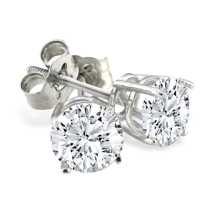 3/4 Carat Diamond Stud Earrings, White Gold,  Color, SI1-SI2 Clarity by SuperJeweler