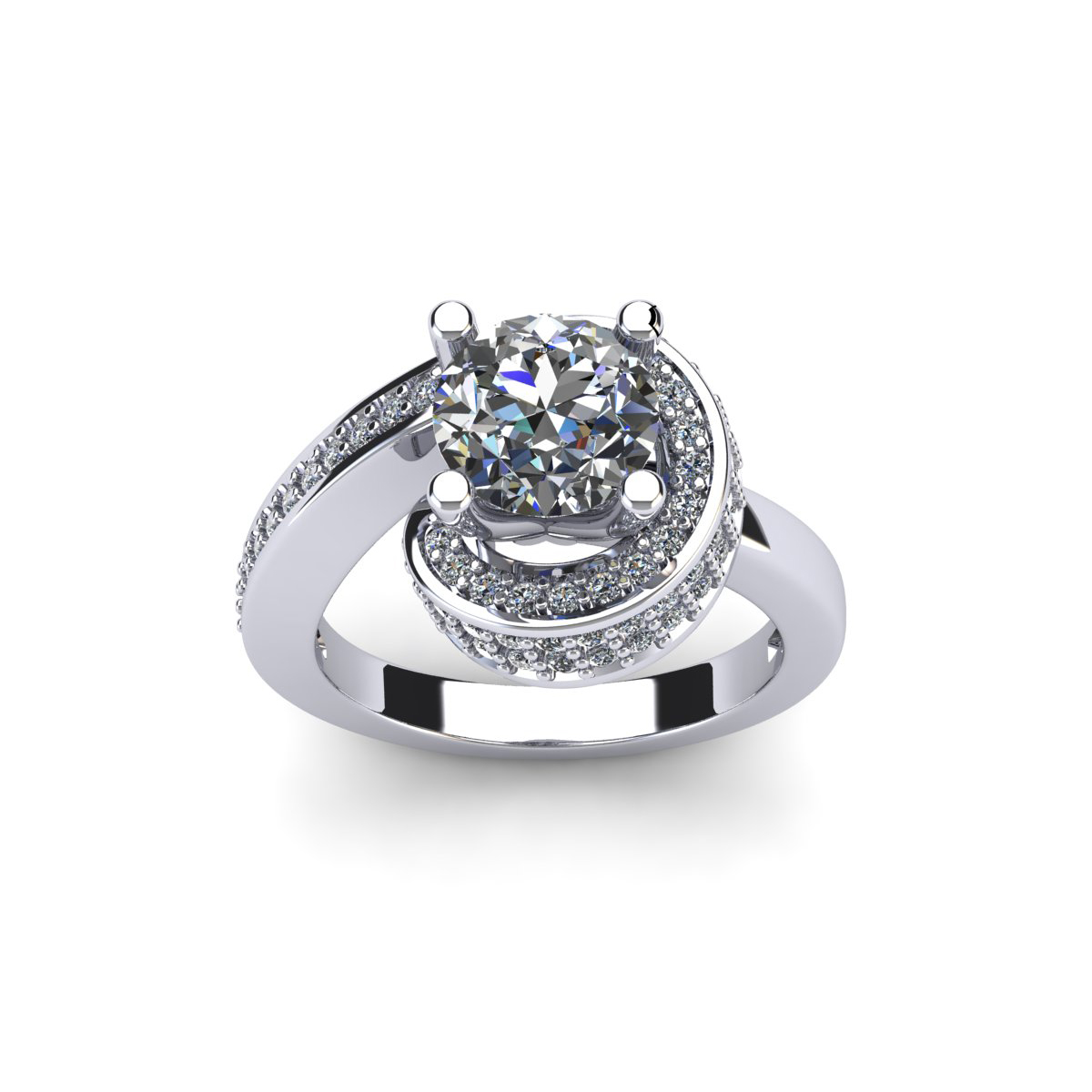 owl mini diamond ring engagement products melanie cluster rings white snow asymmetrical casey wg