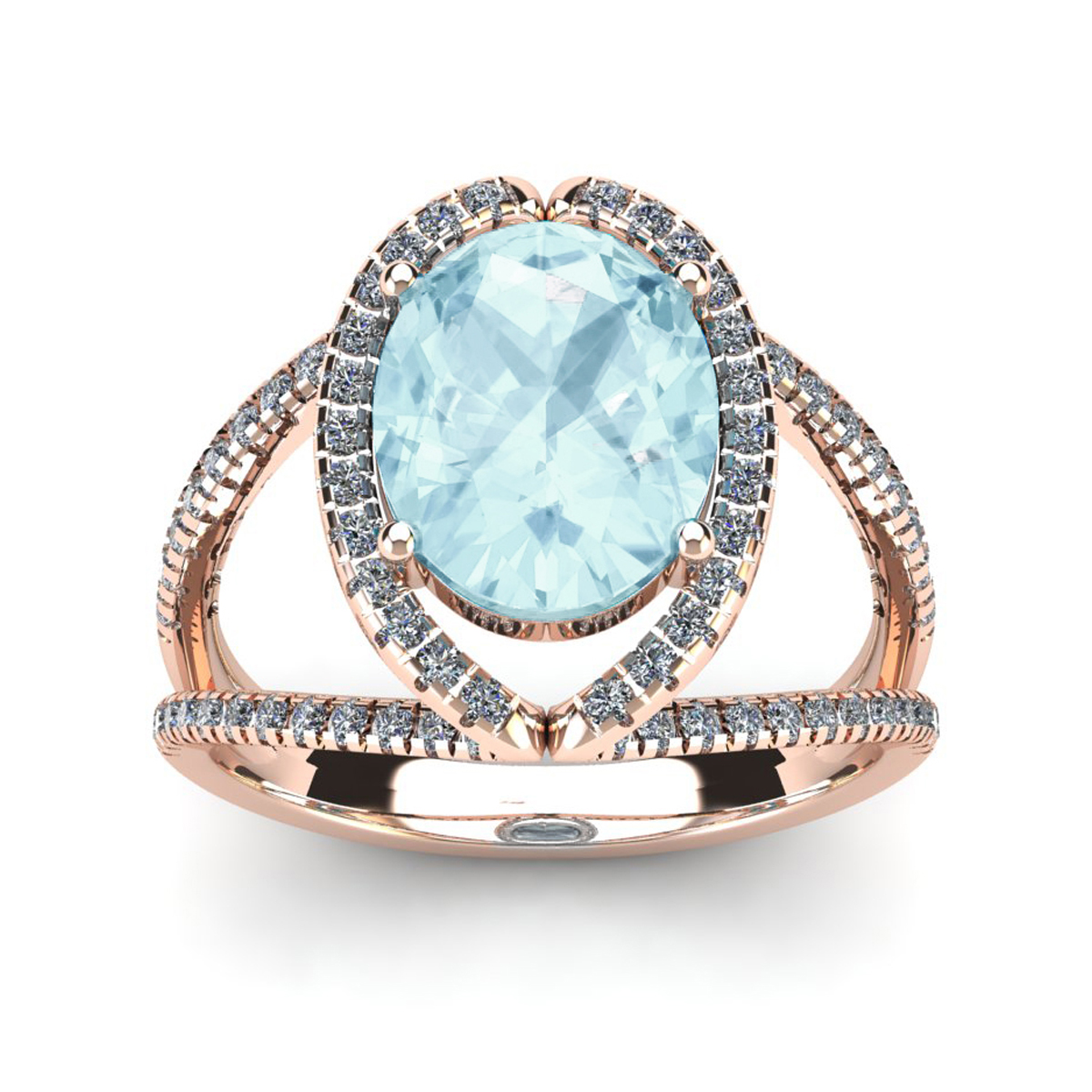 6ca6aa6955097 Aquamarine Rings | March Birthstone | 2 3/4ct Oval Aquamarine and ...