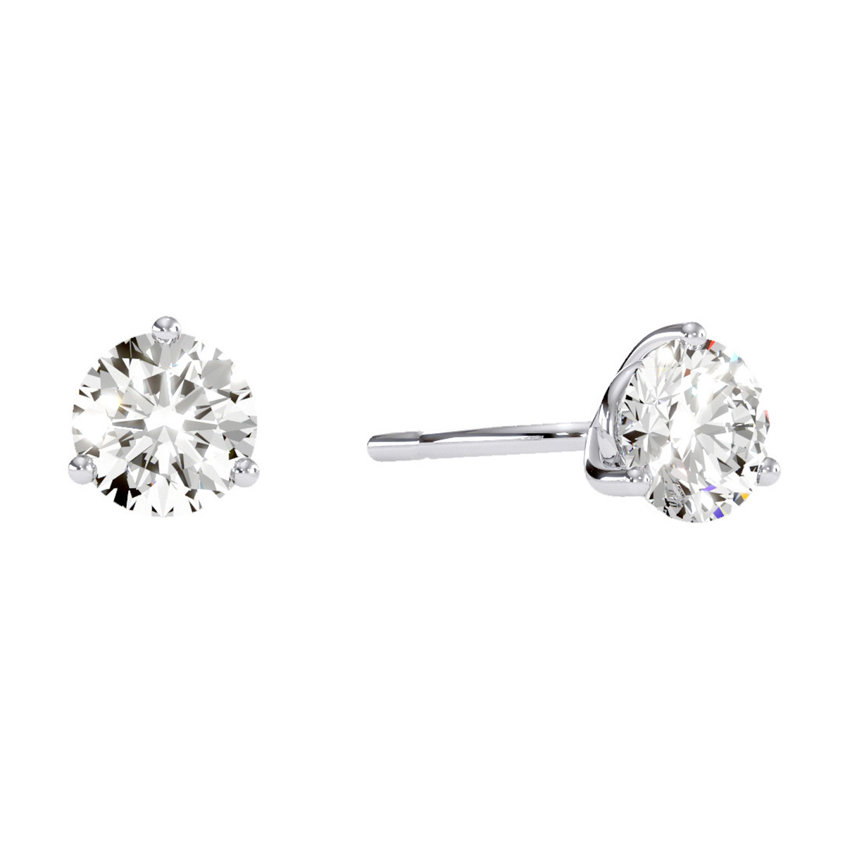 7437bfc6e Superjeweler | 1 1/2 Carat Diamond Martini Stud Earrings In 14 Karat ...