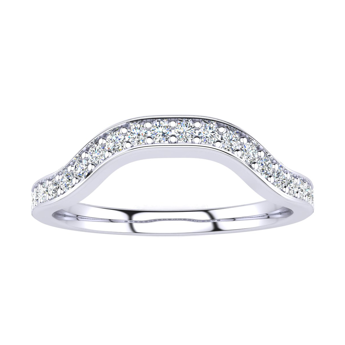 b60359055910ae 1/4ct Diamond mathing Wedding Band for Double Halo Massive Looking Princess  Cut Engagement Rings In 14K White Gold