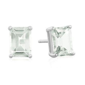 2 1/2ct Green Amethyst Earrings
