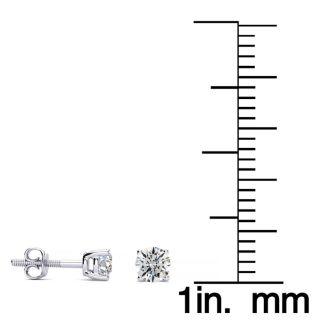 1/4 Carat Diamond Stud Earrings In Platinum