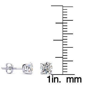3/4 Carat Diamond Stud Earrings In Platinum