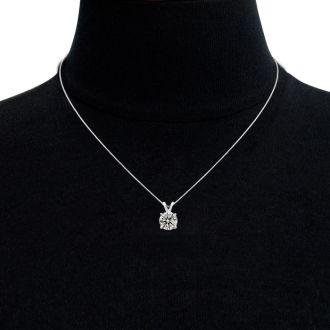 2ct Diamond Pendant in 14k White Gold