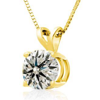 2.00ct Diamond Pendant in 14k Yellow Gold
