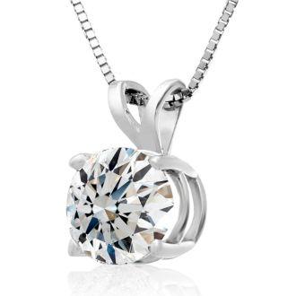 Fine 2.00ct 14k White Gold Diamond Pendant, Lowest Price Ever.